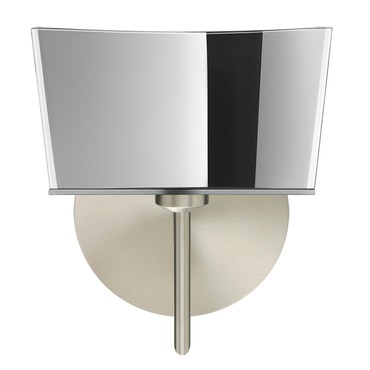 Groove Bath Bar with Round Canopy by Besa Lighting | 1SW-6773MR-SN