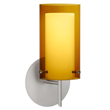 Pahu 4 Wall Sconce by Besa Lighting | 1SW-G44007-SN