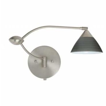 Domi Swing Arm Sconce by Besa Lighting | 1WU-1743TN-SN