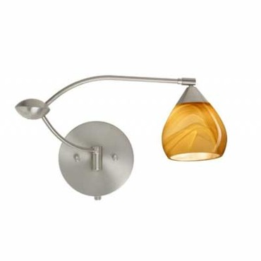 Tay Tay Swing Arm Sconce  by Besa Lighting | 1WU-5605HN-SN
