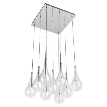 Larmes LED Square Suspension by Et2   E20516-18PC