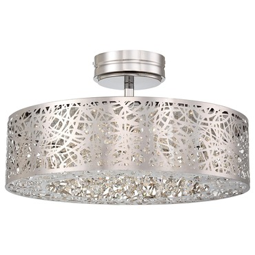 Hidden Gems LED Semi Flush by George Kovacs   P985-077-L