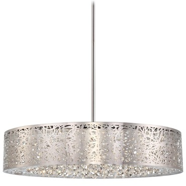 Hidden Gems LED Oval Chandelier