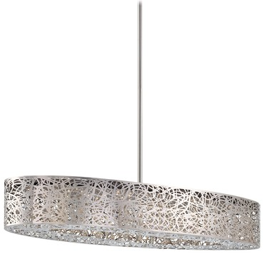 Hidden Gems LED Oval Linear Suspension by George Kovacs | P987-077-L
