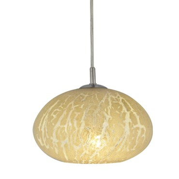 Oro Crackle Flush Round Canopy Pendant