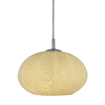 Oro Swag Flat Round Canopy Pendant