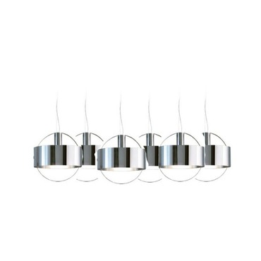 Ring Inox Multi Pendant White Canopy