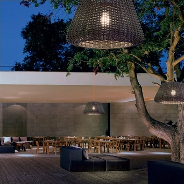 Ralph Outdoor Plug-in Pendant by Zaneen Lighting | D8-1395+D8-9040