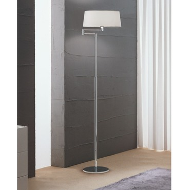 Classic Swing Arm Floor Lamp with Top Diffuser by ZANEEN design | D8-4065+D8-9002