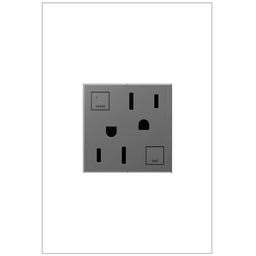 Tamper Resistant GFCI 15 Amp Outlet by Legrand | AGFTR2152M4