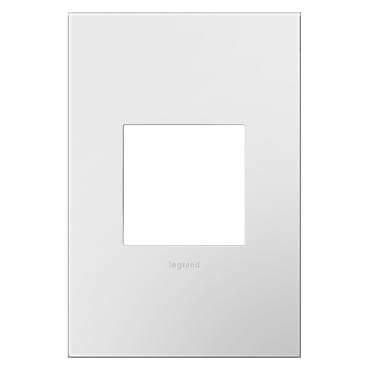 Adorne Plastic Screwless Wall Plate by Legrand | AWP1G2WH6