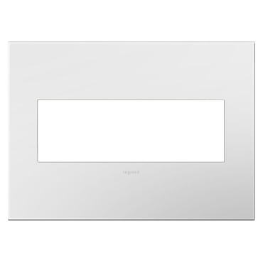 Adorne Plastic Screwless Wall Plate by Legrand | AWP3GWH4