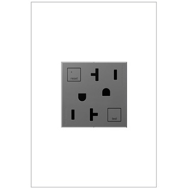 Tamper Resistant GFCI 20 Amp Outlet by Legrand | AGFTR2202M4