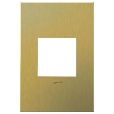 Brushed Brass Wall Plate by Legrand | AWC1G2BB4
