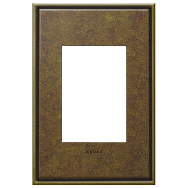 Cast Metal 1-Gang 3-Module Wall Plate by Legrand | AWC1G3AB4
