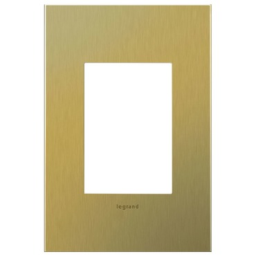 Brushed Brass 1-Gang 3-Module Wall Plate