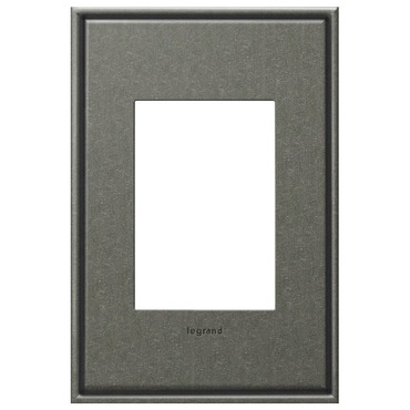 Brushed Pewter 1-Gang 3-Module Wall Plate