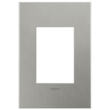 Brushed Stainless Steel 1-Gang 3-Module Wall Plate