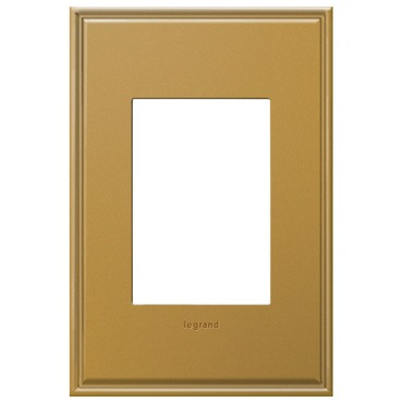 Cast Metal 1-Gang 3-Module Wall Plate by Legrand | AWC1G3NB4