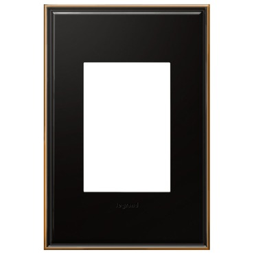 Cast Metal 1-Gang 3-Module Wall Plate by Legrand | AWC1G3OB4