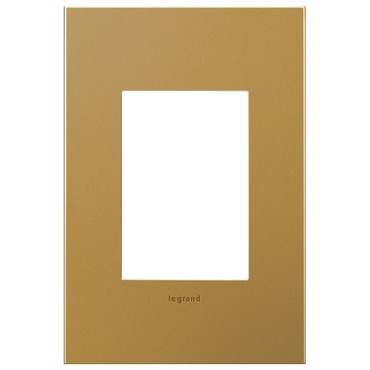 Satin Bronze 1-Gang 3-Module Wall Plate by Legrand | AWC1G3SB4