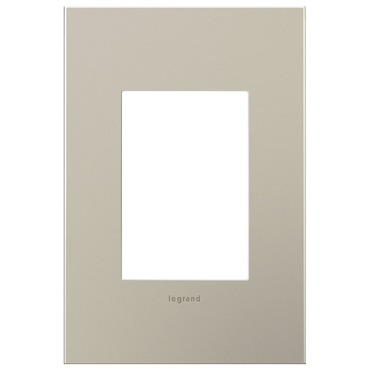 Satin Nickel 1-Gang 3-Module Wall Plate by Legrand | AWC1G3SN4