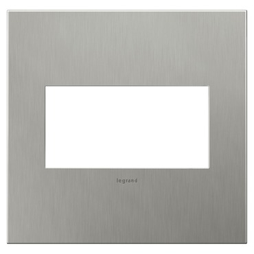 Brushed Stainless Steel Wall Plate by Legrand | AWC2GBS4