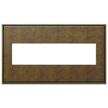 Aged Brass Wall Plate by Legrand | AWC4GAB4