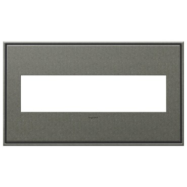 Brushed Pewter Wall Plate by Legrand | AWC4GBP4