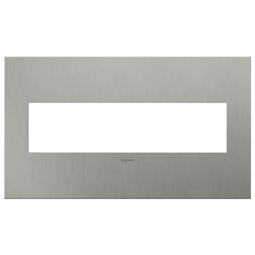Brushed Stainless Steel Wall Plate by Legrand | AWC4GBS4