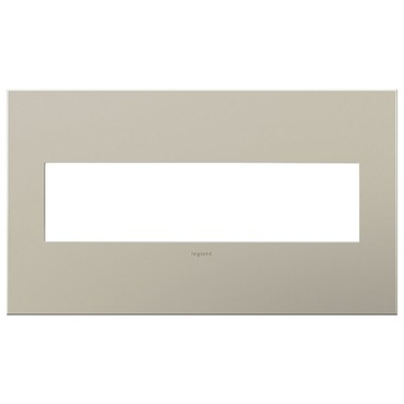 Satin Nickel Wall Plate by Legrand | AWC4GSN4