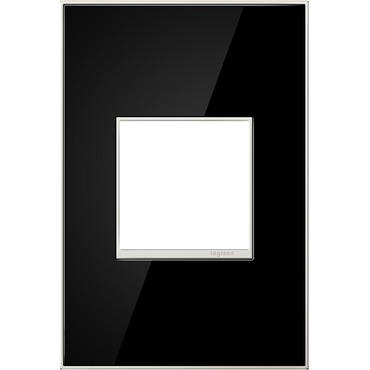 Mirror Black Wall Plate by Legrand | AWM1G2MB4