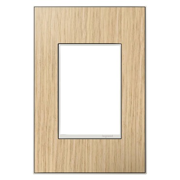 French Oak 1-Gang 3-Module Wall Plate by Legrand | AWM1G3FH4