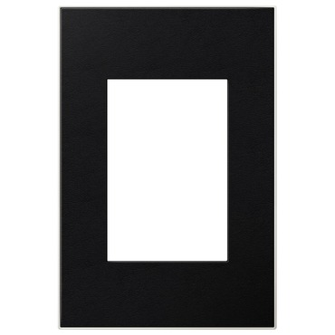 Black Leather 1-Gang 3-Module Wall Plate by Legrand | AWM1G3LE4