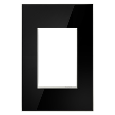 Mirror Black 1-Gang 3-Module Wall Plate
