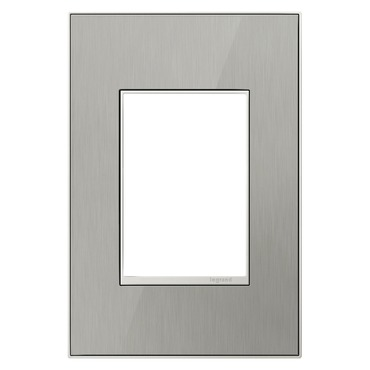 Brushed Stainless 1-Gang 3-Module Wall Plate
