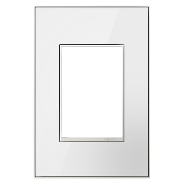 Real Material 1-Gang 3-Module Wall Plate by Legrand | AWM1G3MW4