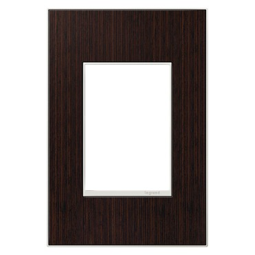 Wenge 1-Gang 3-Module Wall Plate by Legrand | AWM1G3WE4