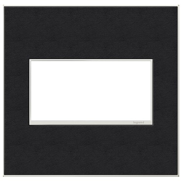 Black Leather Wall Plate by Legrand | AWM2GLE4