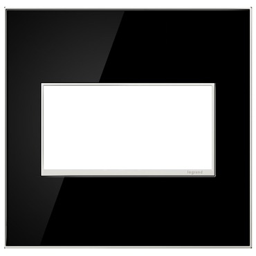 Mirror Black Wall Plate by Legrand | AWM2GMB4