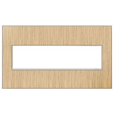Adorne Real Material Screwless Wall Plate by Legrand | AWM4GFH4