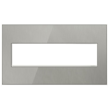Adorne Real Material Screwless Wall Plate by Legrand | AWM4GMS4
