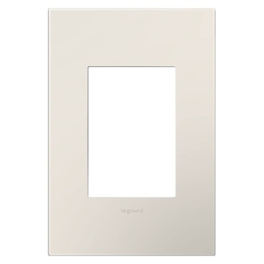 Satin Light Almond 1-Gang 3-Module Wall Plate