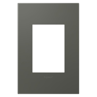 Moss Grey Soft Touch 1-Gang 3-Module Wall Plate