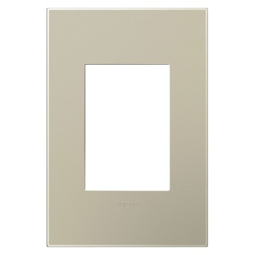 Titanium 1-Gang 3-Module Wall Plate by Legrand | AWP1G3TM4