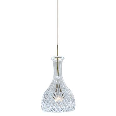 Fast Jack Crystal Vase Round Pendant by PureEdge Lighting | FJ-VASE2-SN