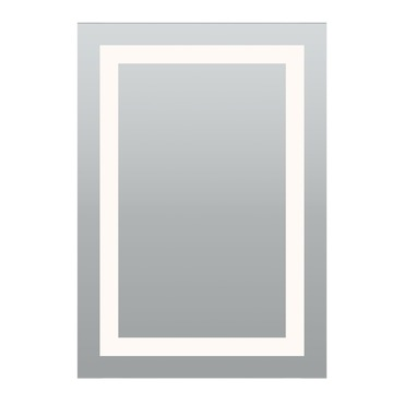 Plaza Large Surface Mount LED Mirror by PureEdge Lighting | PLAZA-L-LED-27K