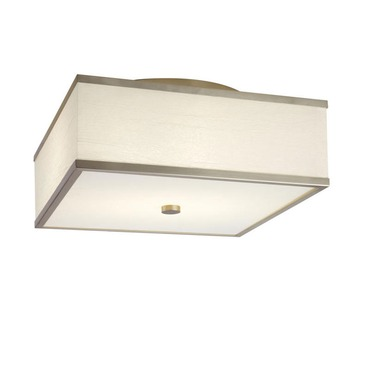 Square Satin Nickel Ceiling Flush Mount