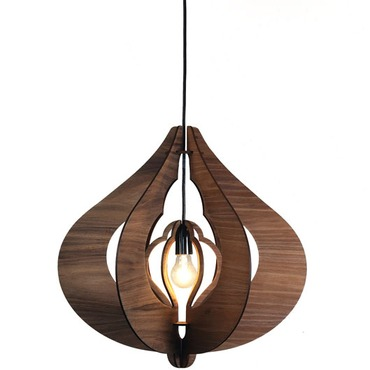 Cotton Pendant by Lightology Collection | LC-COTTON-S-LG-BW