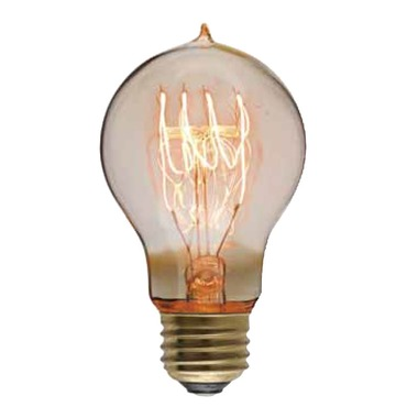 Edison A19 E26 Gold Bulb with Tip 40W 120V